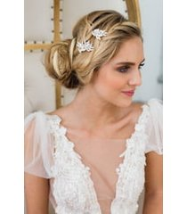 brides & hairpins guilia set of 2 hair clips, size one size - metallic