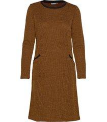 frfinew 3 dress knälång klänning brun fransa