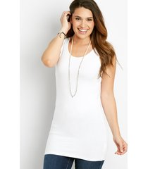 maurices womens basic tunic tank top white