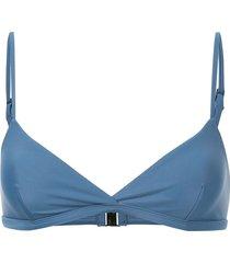 matteau tri crop bikini top - blue