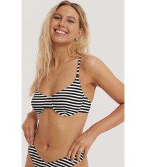 na-kd swimwear pop bikini kup-bh med struktur - black