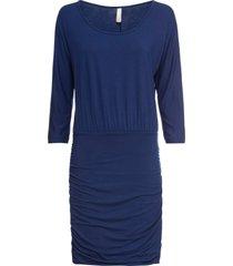 abito in maglina con arricciature (blu) - bodyflirt boutique