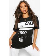 99 cali slogan t-shirt, zwart