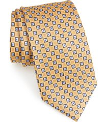 men's nordstrom men's shop neat silk tie, size regular - yellow