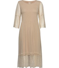 messiacr dress knälång klänning beige cream