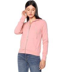 chaqueta rosa active