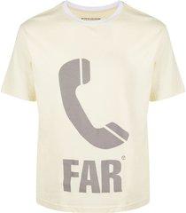 telfar phone icon print t-shirt - yellow