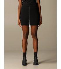 emporio armani skirt emporio armani mini skirt in wool and vinyl