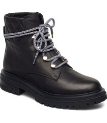 stb-franka lace l shoes boots ankle boots ankle boot - flat svart shoe the bear