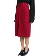 balenciaga houndsthooth skirt