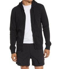 men's reigning champ zip hoodie, size large - black