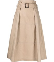 peserico belted a-line skirt - neutrals