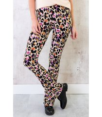 flared broek panter multicolor