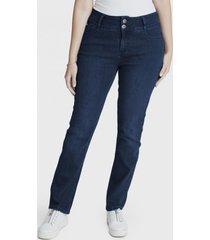 jeans recto 2botones azul curvi
