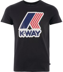 k-way pete macro logo t-shirt - black k009ff0