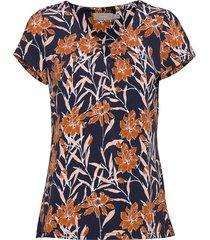 frjeself 1 blouse blouses short-sleeved multi/mönstrad fransa