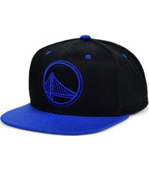 mitchell & ness golden state warriors black royalty snapback cap