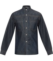 ribbon denim shirts
