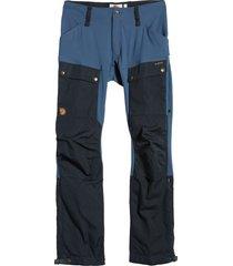 men's fjallraven keb trekking pants, size 38 us/ 56 eu - blue