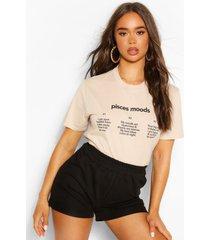 picses moods horoscope t-shirt, sand