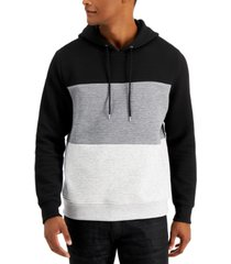 inc men's colorblocked knit hoodie, created for macy's