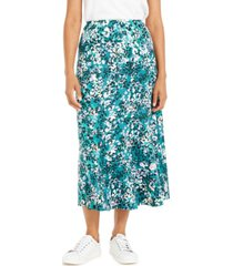 ny collection petite printed diagonal-tier skirt