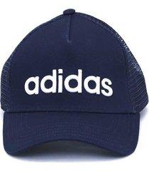 gorra azul adidas curved trucker