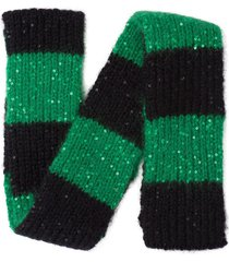 miu miu sequin detail knitted scarf - green