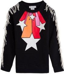 stella mccartney kids stars & fringes sweatshirt