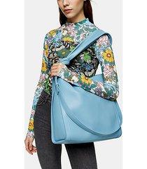 helen blue ruched hobo bag - blue