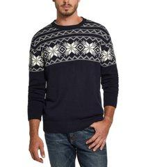 weatherproof vintage men's snowflake pattern sweater