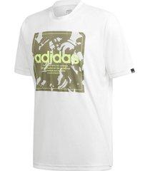 camiseta adidas box camuflado masculina gd5875, cor: branco/verde, tamanho: p - branco - masculino - dafiti