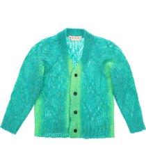 marni mohair blend knit cardigan
