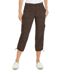 style & co cargo capri pants, created for macy's