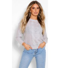 lightweight cable knit sweater, grey
