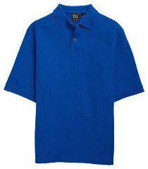 traveler collection traditional fit short sleeve pique men's polo - big & tall