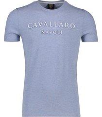 t-shirt lichtblauw melange cavallaro miraco tee