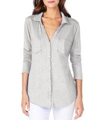 women's michael stars knit shirt, size one size - grey