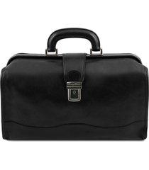 tuscany leather tl141852 raffaello - borsa medico in pelle nero