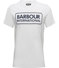 b.intl essential large logo tee t-shirts short-sleeved vit barbour