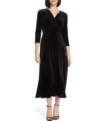 women's chaus faux wrap velvet dress