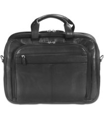"mancini colombian collection zippered double compartment 15.6"" laptop / tablet briefcase"