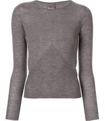 lorena antoniazzi boat neck sweatshirt - grey