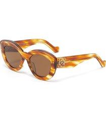 anagram embellished bold tortoiseshell effect acetate frame cateye sunglasses