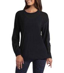 women's long sleeve mesh pullover