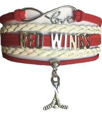 detroit red wings hockey fan shop infinity bracelet jewelry