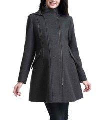 kimi + kai cordella maternity zip front wool blend coat