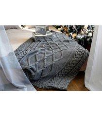 szykowny ręcznie robiony pled koc 150x210cm