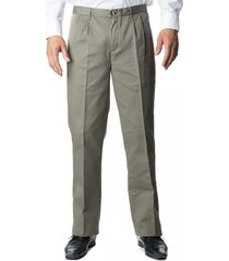 pantalón gabardina pinzado verde kotting