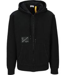 moncler fragment logo zip hoodie